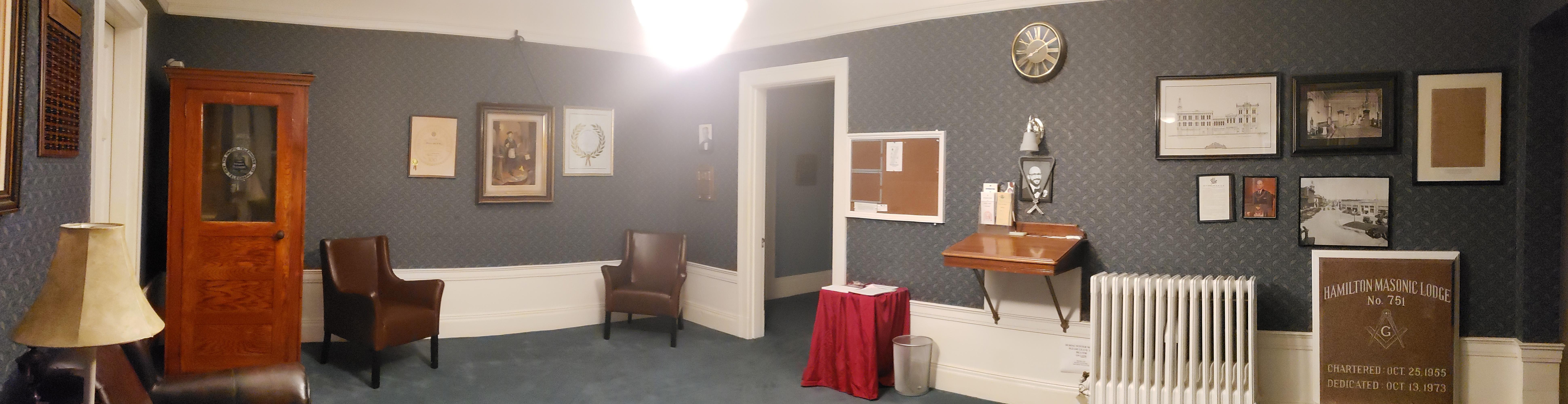 Tylers room looking towards Lodge room